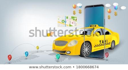 Taxi app illustratie om toepassing zie Stockfoto © kali