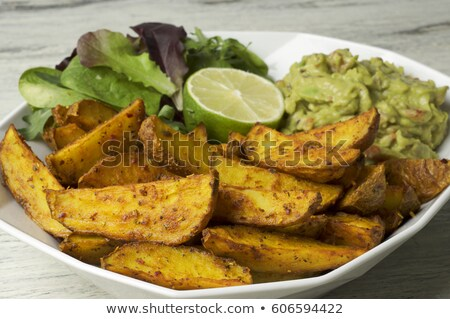 Batata tomate salsa cocina interior vegetales Foto stock © monkey_business