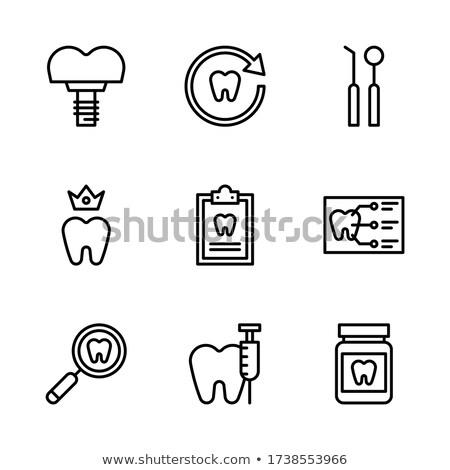 歯 インプラント アイコン 抽象的な 透明な ストックフォト © Tefi