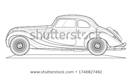 Transport. Picture of Isolated Classical Black Car Stock photo © robuart