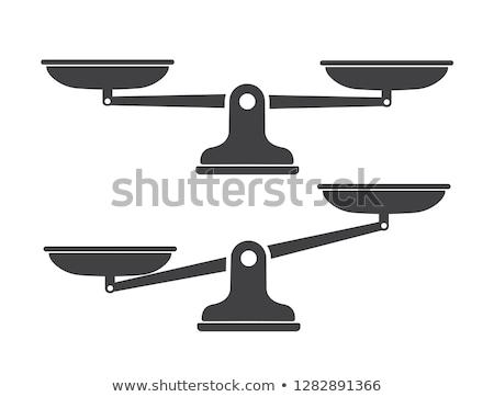 Evenwicht schaal vergelijking lege oude Stockfoto © albund