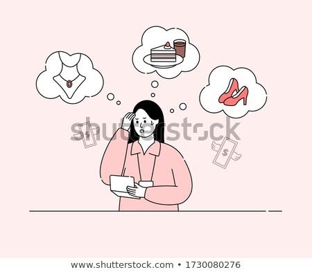 triste · mulher · deserto · caucasiano · em · pé · frustrado - foto stock © rastudio
