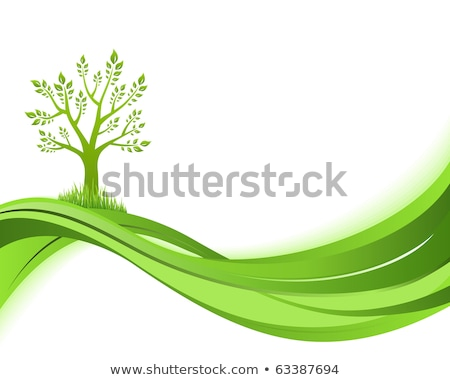 abstract artistic green eco tree Stock photo © pathakdesigner