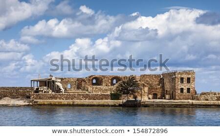 Mur maison forteresse soleil jour construction Photo stock © ssuaphoto