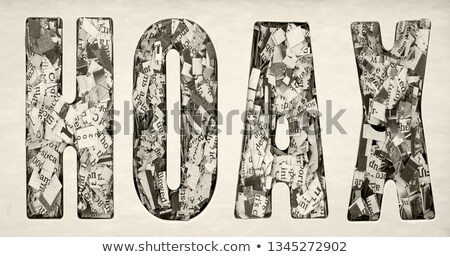 Conspiracy Concept Isolated Letterpress Word Stock photo © enterlinedesign