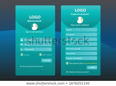Giriş form şablon dizayn web uygulaması Stok fotoğraf © SArts