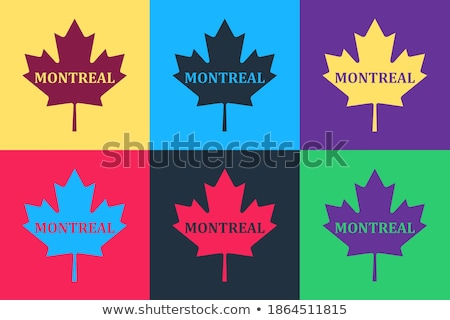 Vector flat style set of Canadian national objects. Stock photo © curiosity