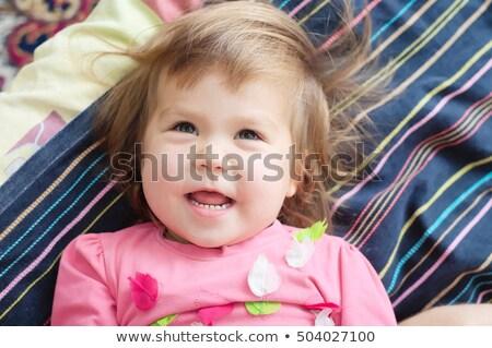 Kahkaha patlama küçük kız portre gülme dışarı Stok fotoğraf © Giulio_Fornasar