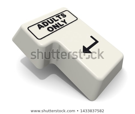 Adult Only - Text on the White Keyboard Keypad. 3D. Stock photo © tashatuvango
