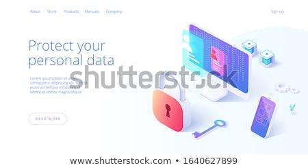 ключевые · контроля · безопасности · информации · знак - Сток-фото © tashatuvango