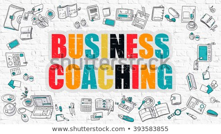 Multicolor Coaching on White Brickwall. Doodle Style. Stock photo © tashatuvango
