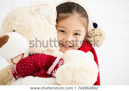 Sevimli gülme çocuk sıcak elbise Stok fotoğraf © dariazu