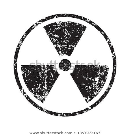 Гранж ядерной власти знак изолированный белый Сток-фото © Grafistart