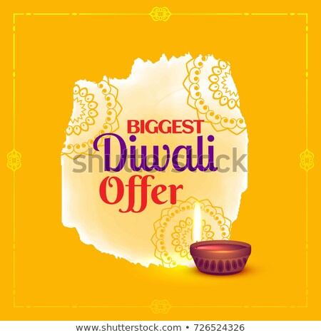 diwali offer voucher design with diya and decorative element Stock photo © SArts