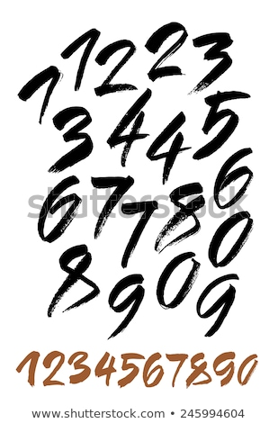 Calligraphic vector font with numerals. Stock photo © ExpressVectors