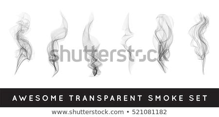 現実的な · たばこ · 煙 · 波 · ベクトル · 蒸気 - ストックフォト © pikepicture
