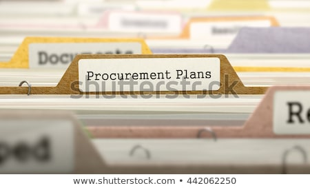card index with document marketing 3d stock photo © tashatuvango
