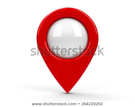 Rood kaart centrum geïsoleerd witte Stockfoto © Oakozhan