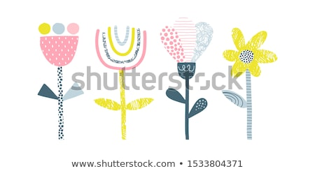 Tulipa broto ícone pictograma estilo gráfico Foto stock © ahasoft