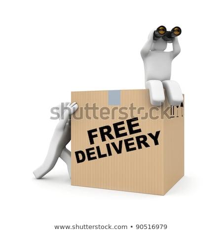 ücretsiz gönderim izlemek 3d illustration iş kırmızı Stok fotoğraf © tashatuvango