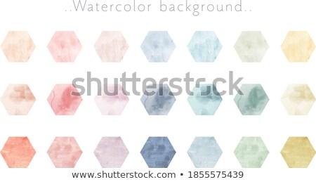 Paper. Hexagonal icons set on abstract orange background Stock photo © ekzarkho