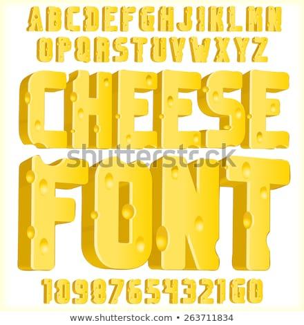 黄色 · チーズ · eps · 10 · ディナー · 絵画 - ストックフォト © popaukropa