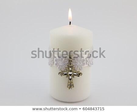 Heilig sacrament doop zwart wit illustratie priester Stockfoto © lenm