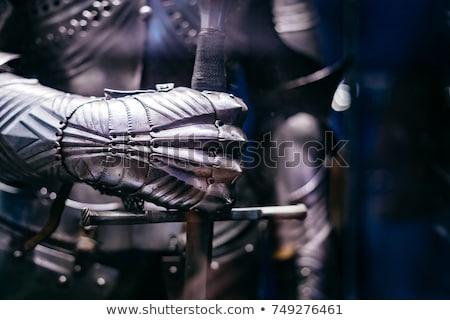 Lovag páncél kép áll középkori fém Stock fotó © FER737NG
