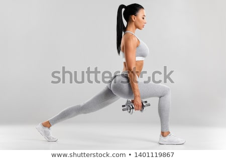 uygunluk · sınıf · adım · aerobik · egzersiz · yandan · görünüş - stok fotoğraf © boggy