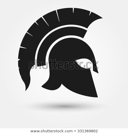 Oude Grieks spartaans trojaans gladiator helm Stockfoto © Krisdog