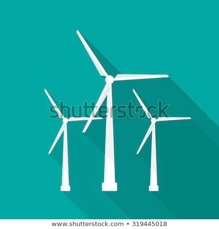 Rüzgar türbini vektör karikatür örnek alternatif enerji Stok fotoğraf © RAStudio