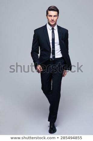 Retrato feliz moço jaqueta posando Foto stock © deandrobot