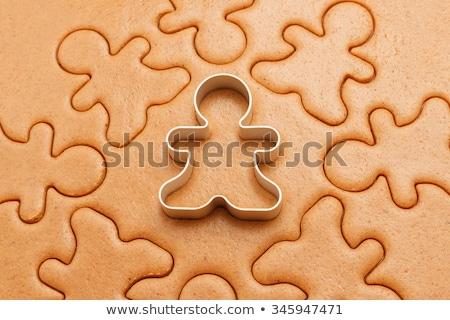 Gingerbread man kurabiye Noel yansıma Stok fotoğraf © IS2