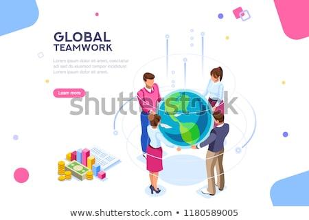 career growth flat isometric vector concept stock photo © tarikvision