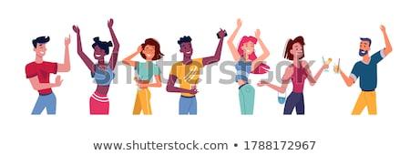 jonge · man · dansen · discotheek · man · vrouwen · mannen - stockfoto © monkey_business