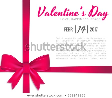happy valentines day design with red heart on shiny pink background vector wedding and love theme i stock photo © articular