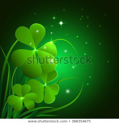 Szent nap illusztráció zöld mező kék ég Stock fotó © articular
