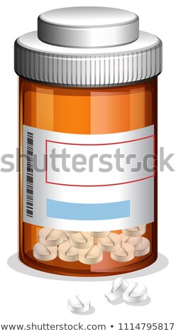 Medicine and Prescription on Whote Backgroung Stock photo © bluering