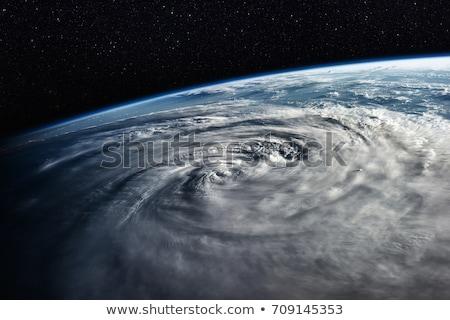 Typhoon over planet Earth - satellite photo. Stock photo © NASA_images