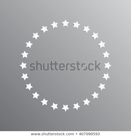 set of white star in the black circle icons vector illustration isolated on modern background stock photo © kyryloff