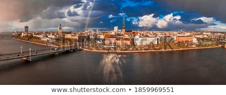 Riga Cathedral and old town houses Stock photo © benkrut