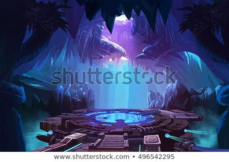 Földalatti barlang jelenet illusztráció háttér hegy Stock fotó © bluering