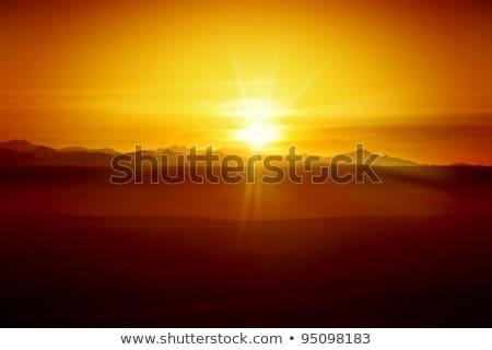 Egyptische woestijn zonsondergang paardrijden Egypte hemel Stockfoto © Givaga