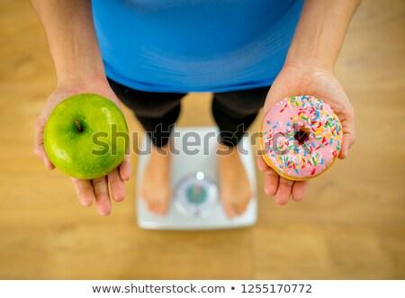 диета · яблоко · пончик · здорового - Сток-фото © ilona75