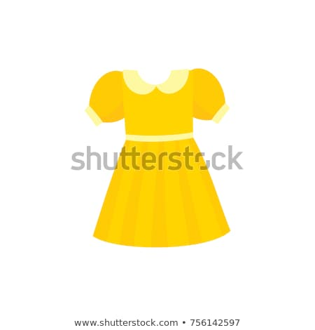 Yellow Dress with Round Collar Short Sleeve Vector Stock photo © robuart
