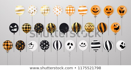 Big Halloween Set With Balloons White Background Stock photo © barbaliss
