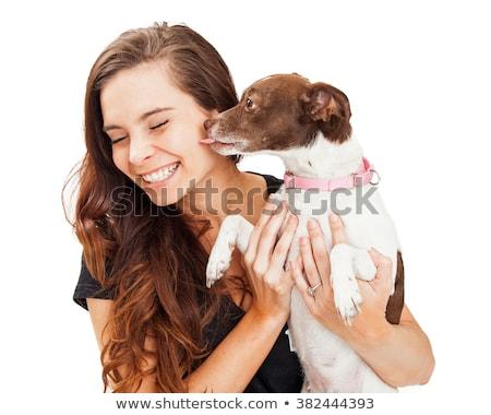 女の子 犬 腕 少女 手 ストックフォト © liolle