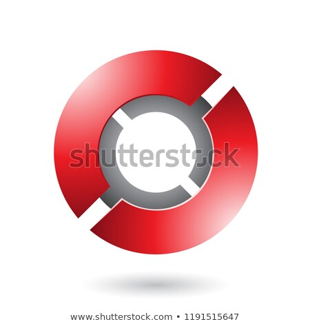 red thick futuristic round disk vector illustration stock photo © cidepix