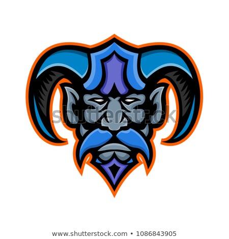 Griego dios mascota icono ilustración cabeza Foto stock © patrimonio