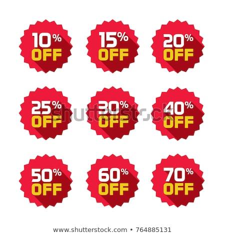 15 árengedmény címke kék piros vásárlás Stock fotó © 5xinc